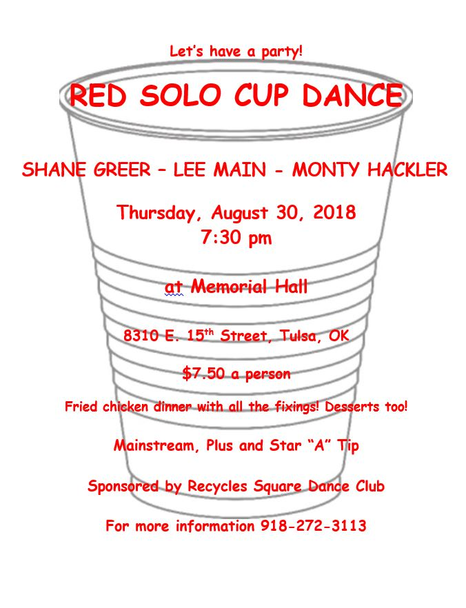 Recycles Red Solo Cup Dance Aug 30